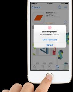 Touch-ID-scan-fingerprint