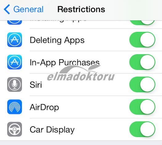 iOS 7.1 otomobil entegrasyonu