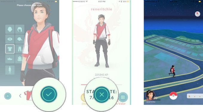 Pokemon go Sac cilt rengi degistirme