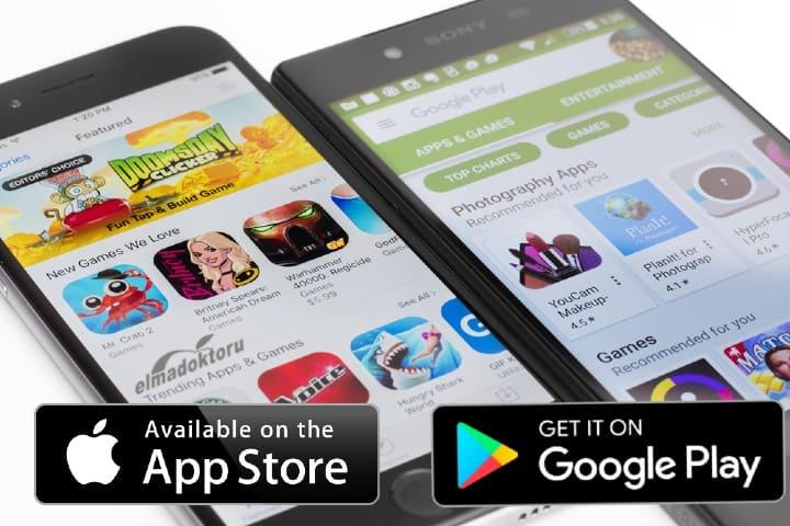 Apple app store ve Google play store