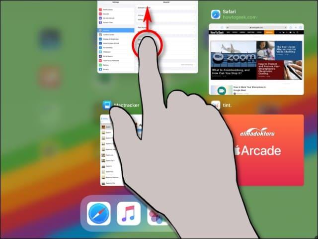 iphone ve ipad uygulama kapatma