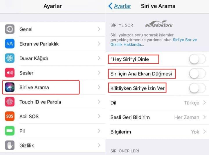 iPhone'da Siri Tamamen Nasıl Kapatılır
