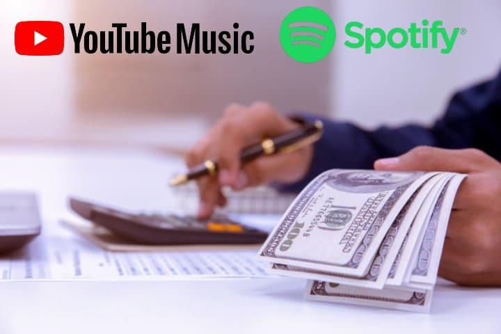 youtube music spotify fiyatlandırma