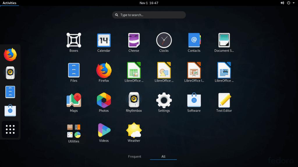 En İyi Linux Dağıtımları 2020 fedora linux