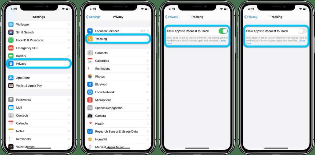 iOS 14 uygulama izleyici izinleri
