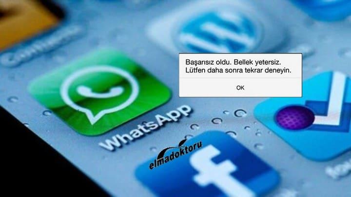 WhatsApp Bellek Yetersiz Hatası